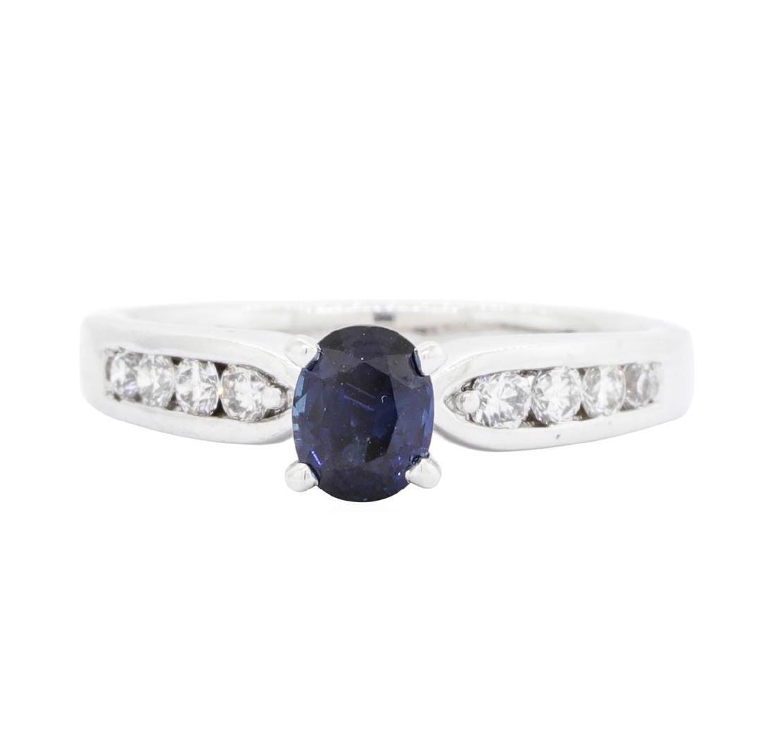 Platinum 1.05 ctw Sapphire and Diamond Ring