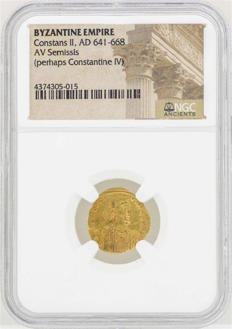 641-668 Byzantine Empire Constans II AV Semissis Gold