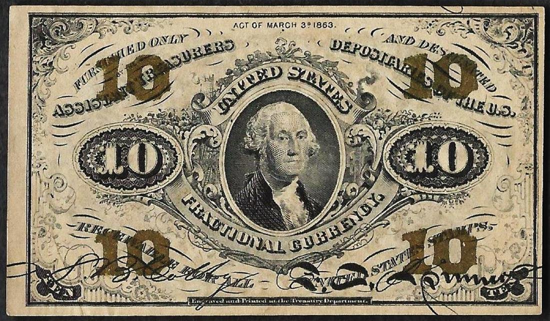 March 3, 1863 Third Issue 10 Cent Fractional Currency