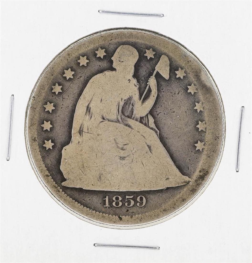 1859-O $1 Seated Liberty Silver Dollar Coin