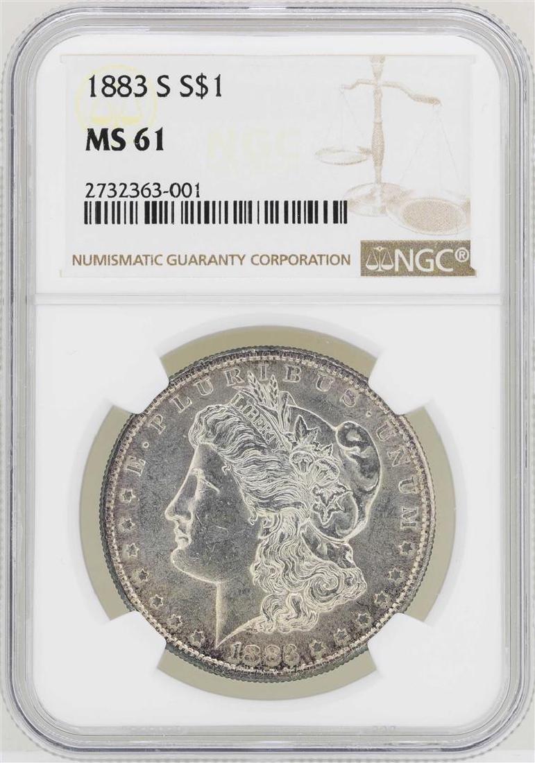 1883-S $1 Morgan Silver Dollar Coin NGC MS61