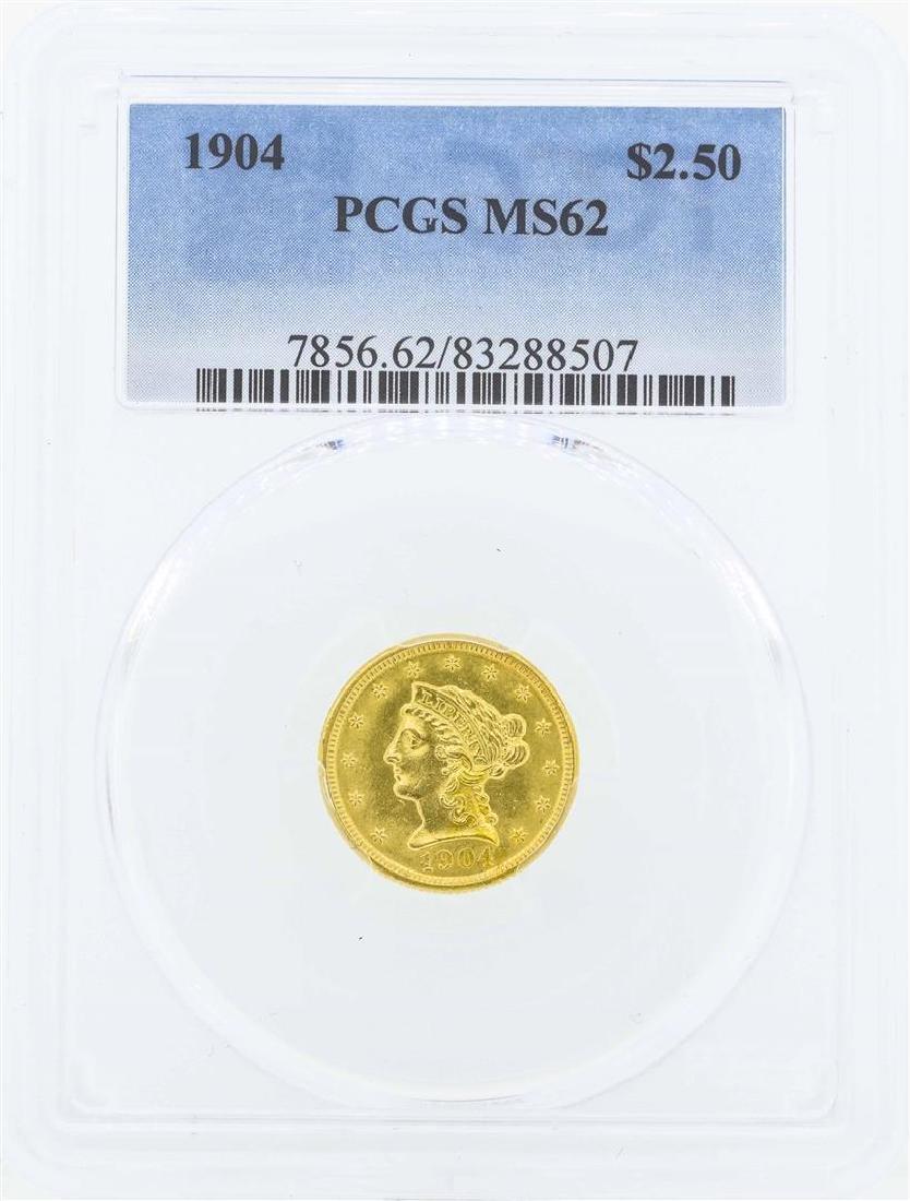 1904 $2 1/2 Liberty Head Quarter Eagle Gold Coin PCGS