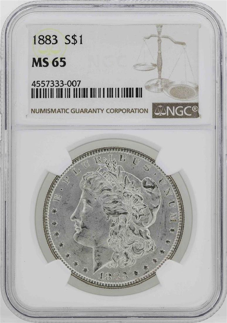 1883 $1 Morgan Silver Dollar Coin NGC MS65