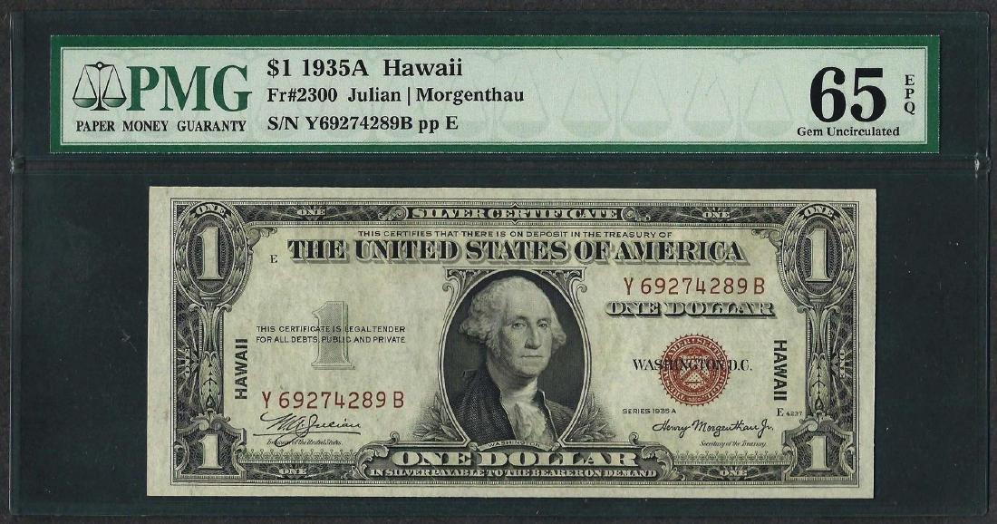 1935A $1 Hawaii Silver Certificate WWII Emergency Note