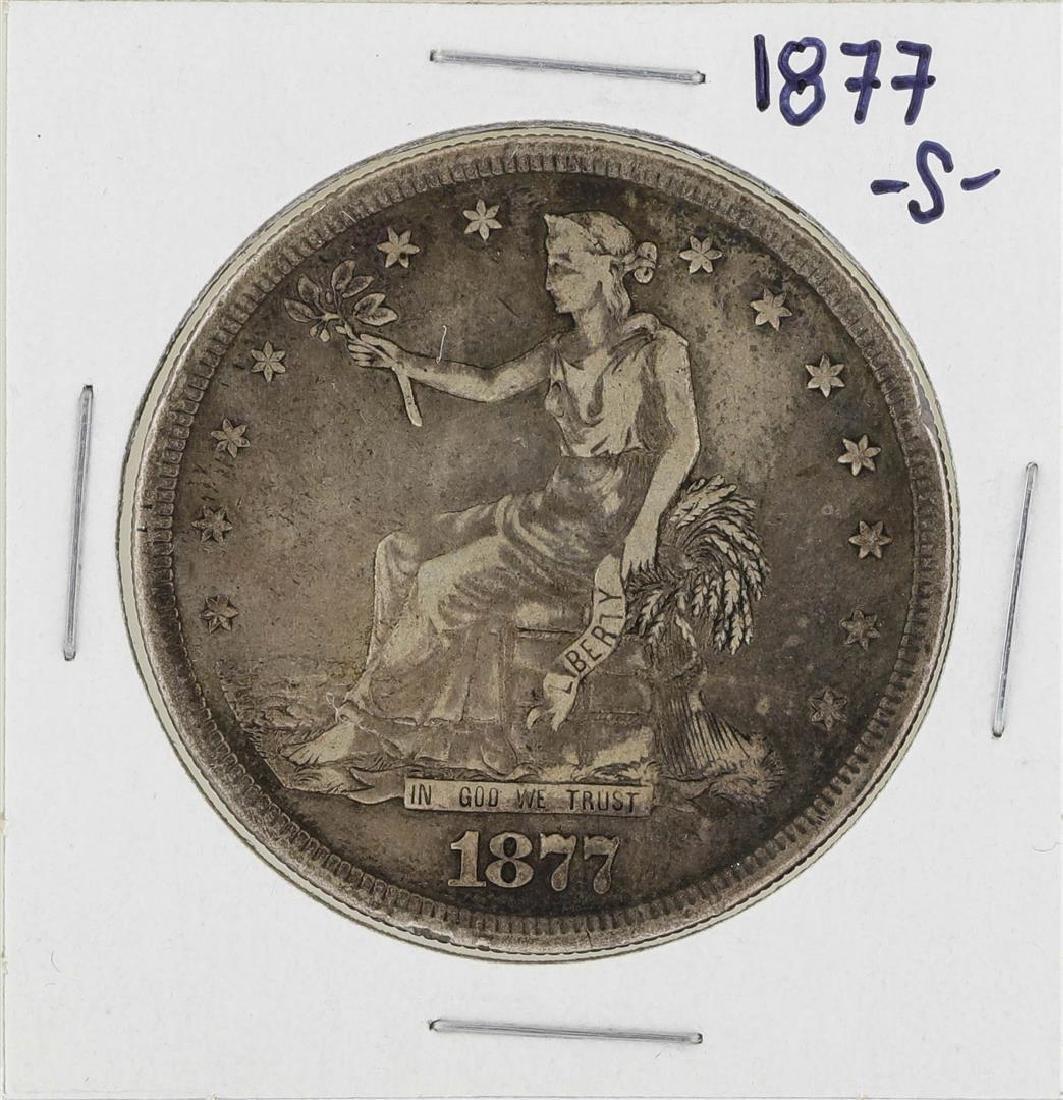 1877-S $1 Trade Silver Dollar Coin