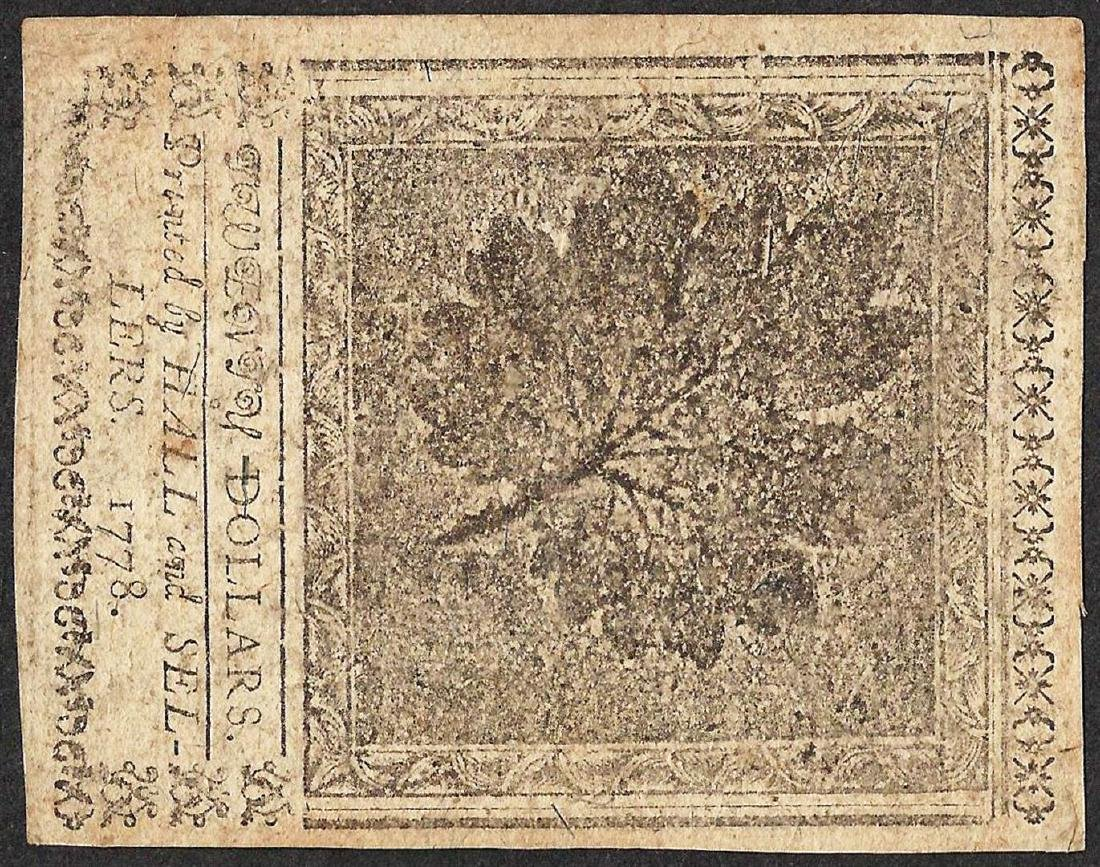 September 26, 1778 $20 Continental Currency Note - 2