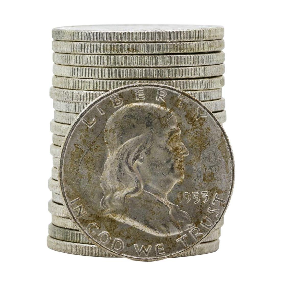 Roll of (20) 1953-D Brilliant Uncirculated Franklin