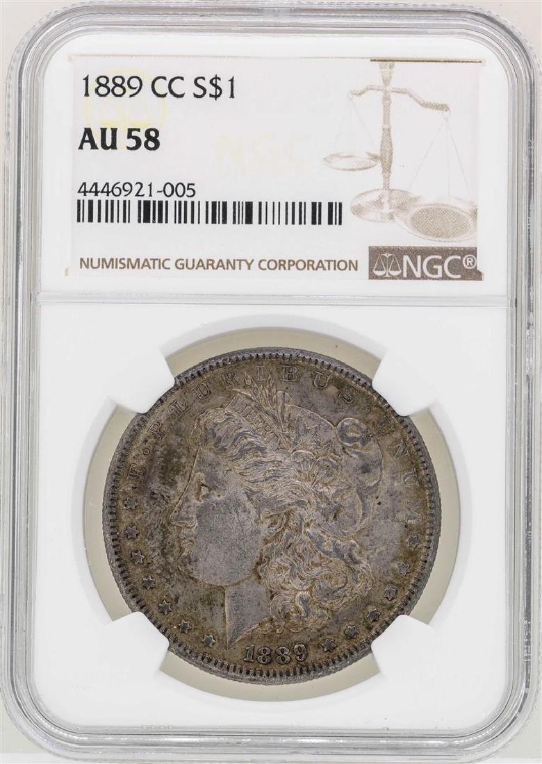 1889-CC $1 Morgan Silver Coin NGC AU58