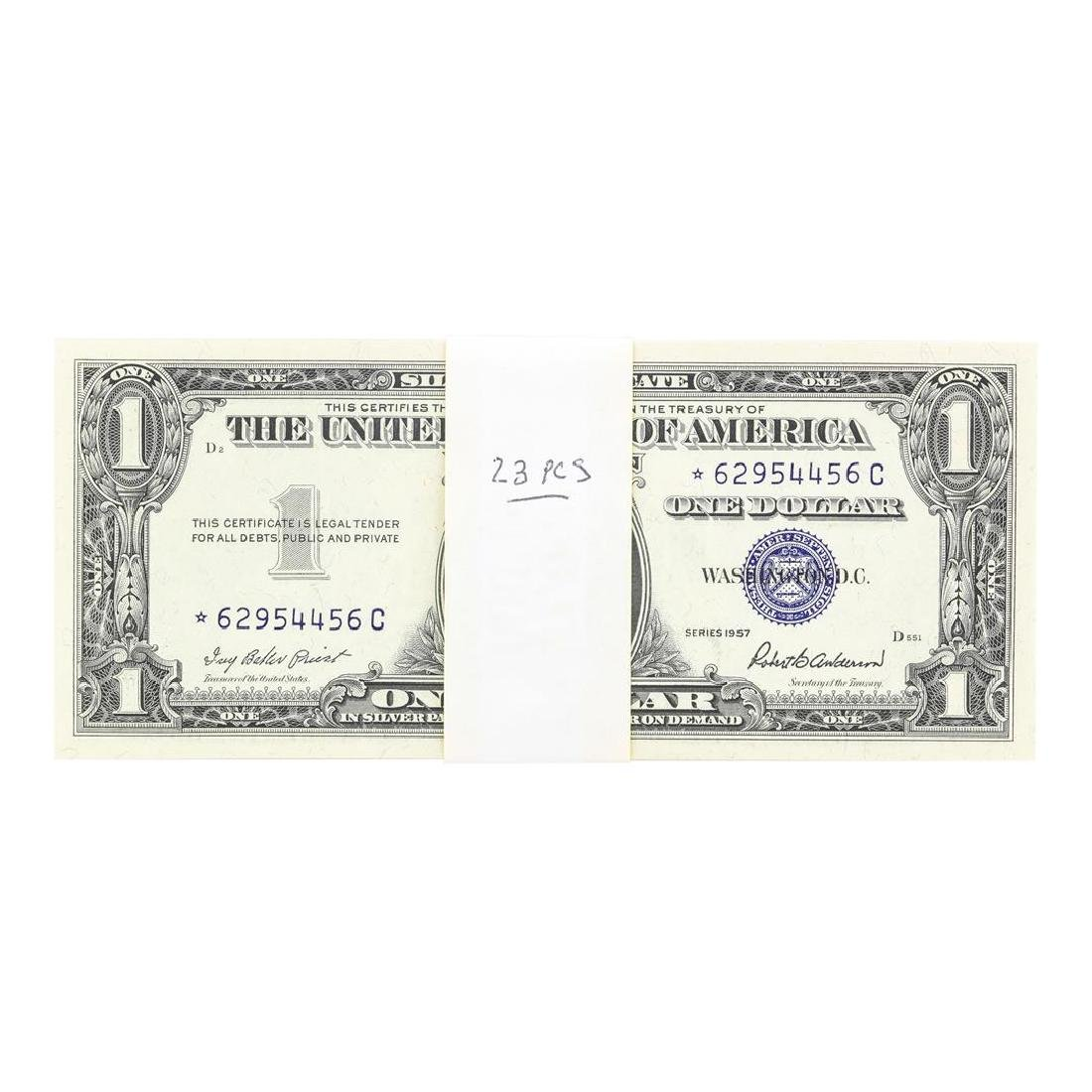 Lot of (23) Consecutive 1957 $1 Silver Certificate STAR