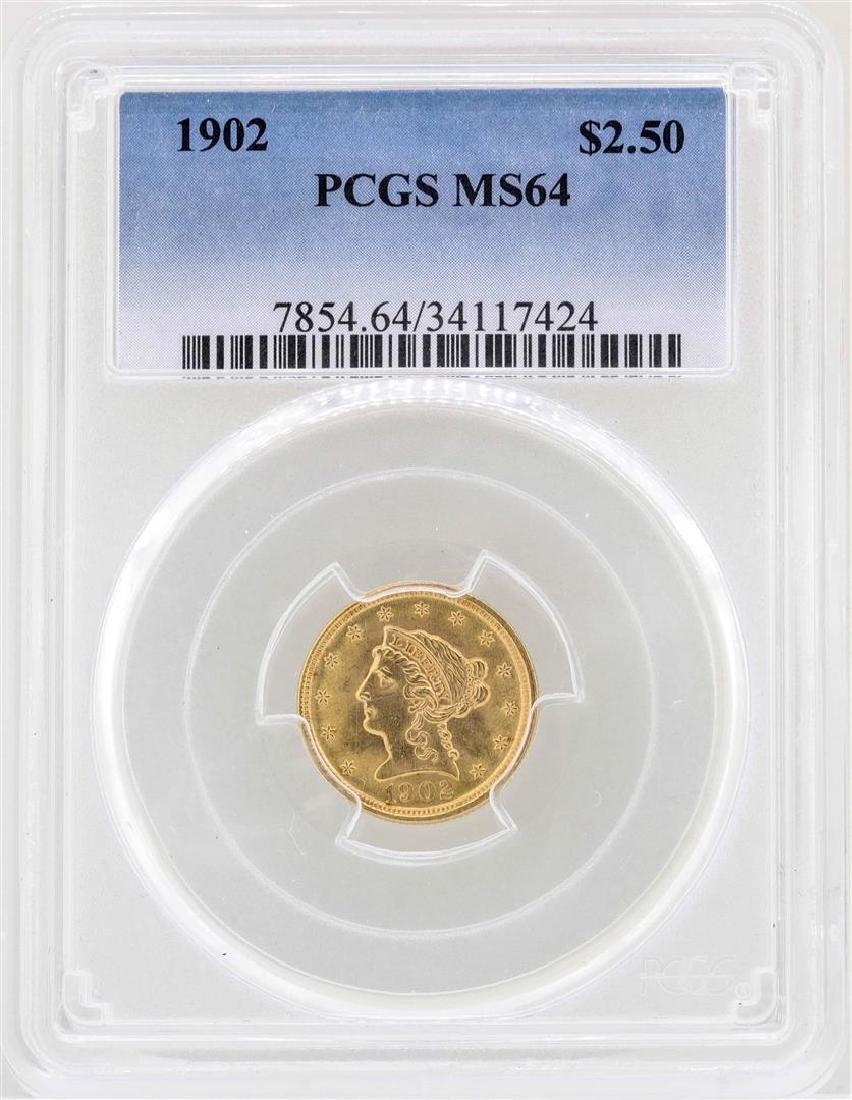 1902 $2 1/2 Liberty Head Quarter Eagle Gold Coin PCGS