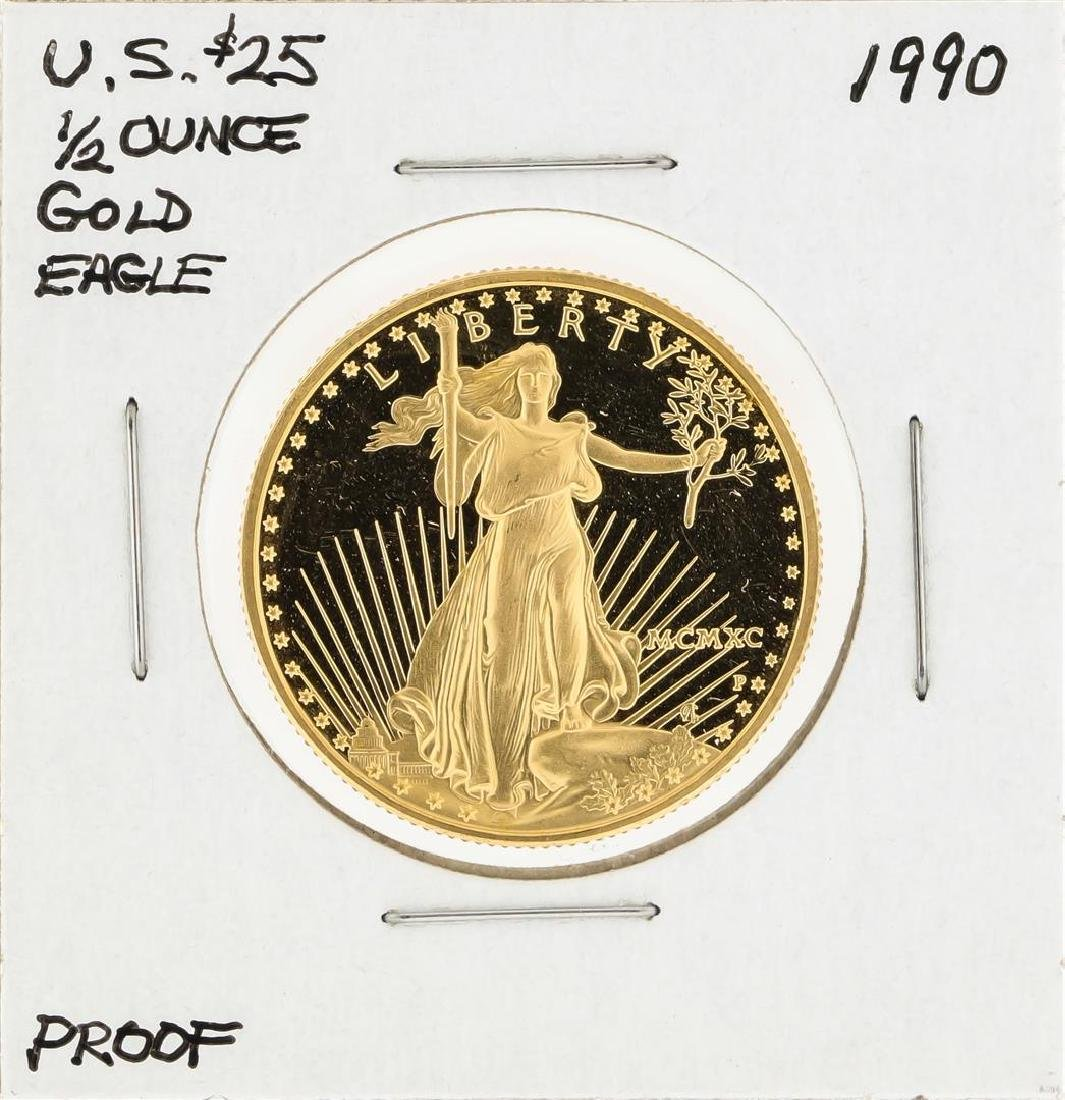 1990 $25 American Gold Eagle Proof Coin
