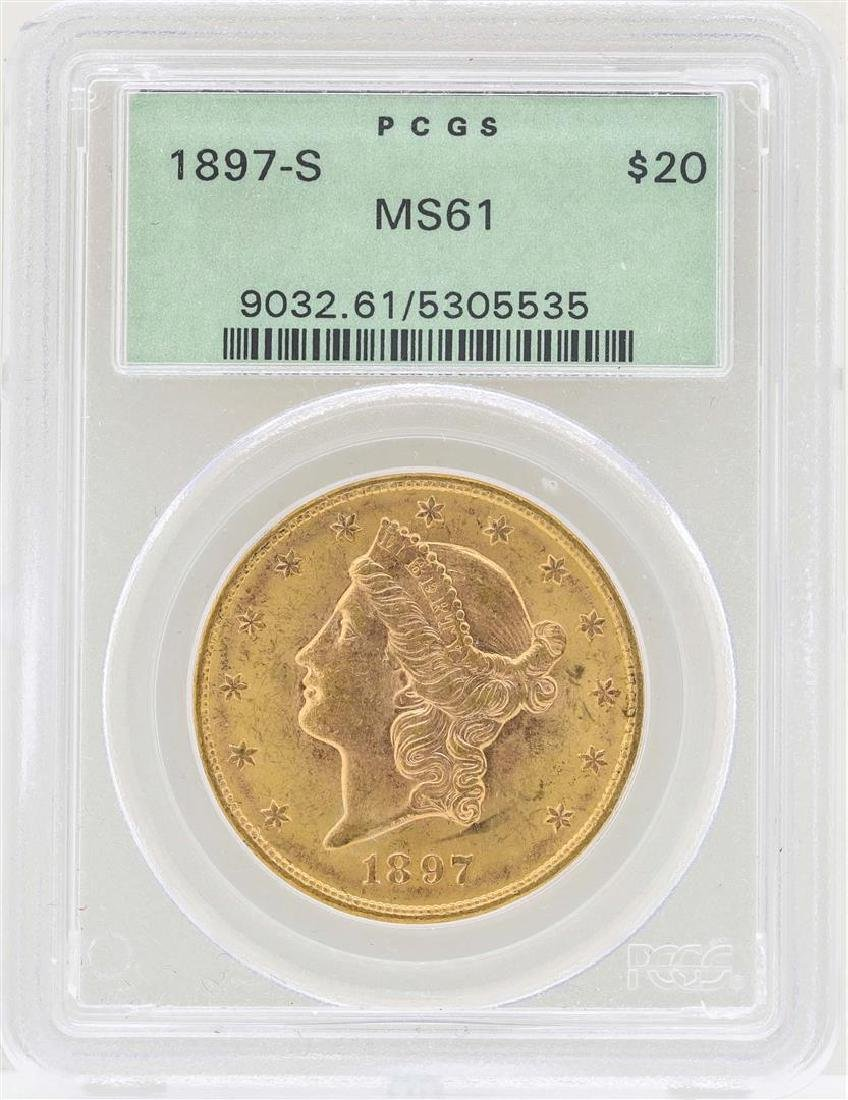 1897-S $20 Liberty Head Double Eagle Gold Coin PCGS