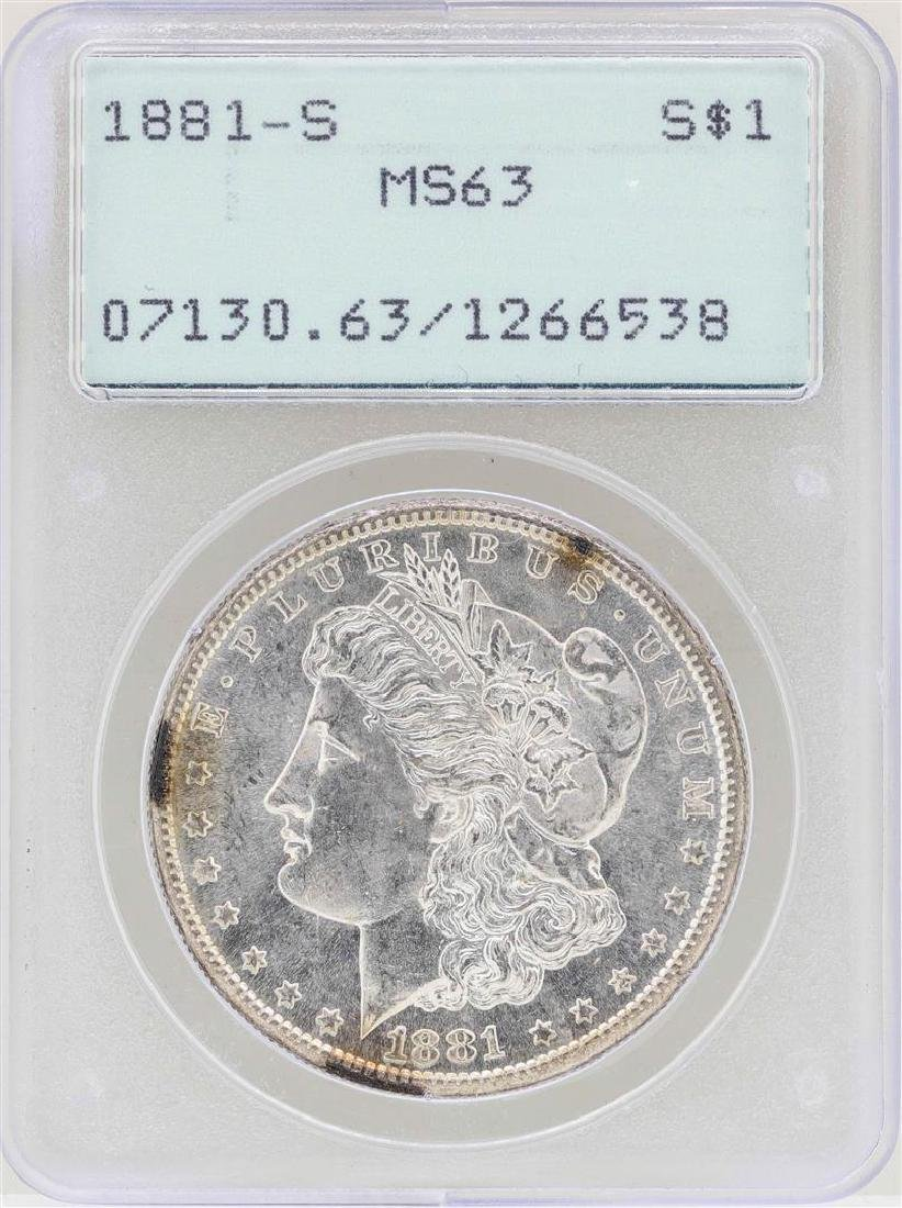 1881-S $1 Morgan Silver Dollar Coin PCGS MS63 Old