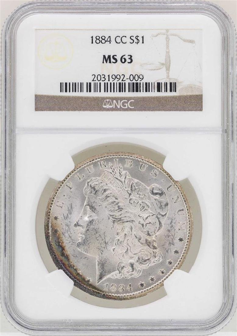 1884-CC $1 Morgan Silver Dollar Coin NGC MS63
