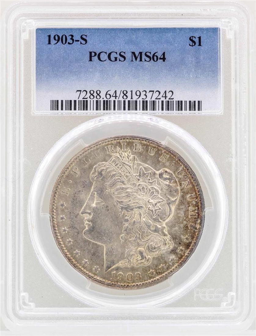 1903-S $1 Morgan Silver Dollar Coin PCGS MS64