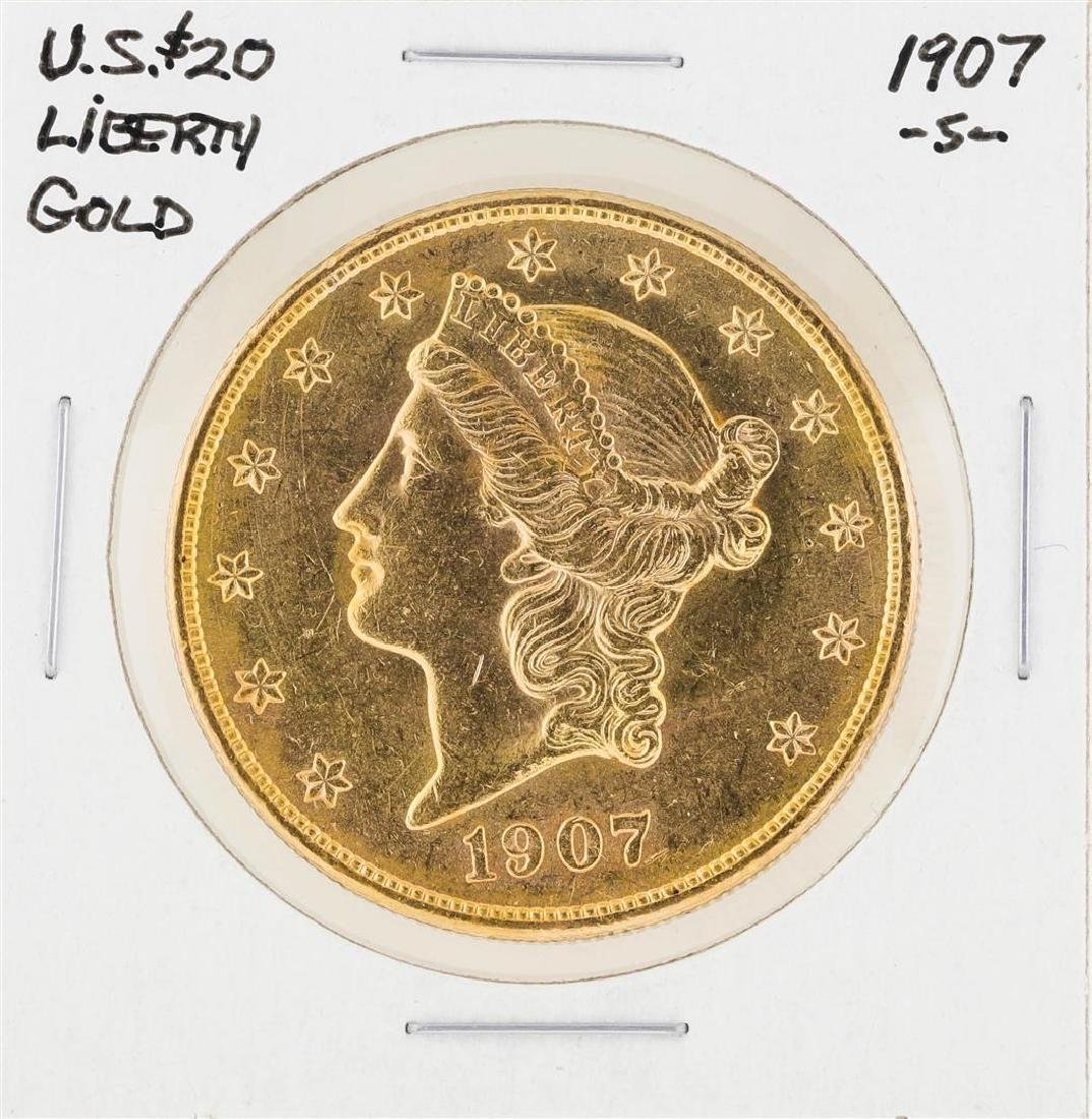 1907-S $20 Liberty Head Double Eagle Gold Coin