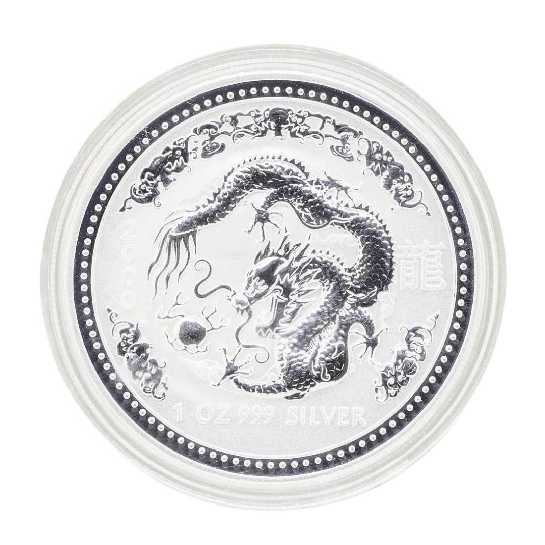 2000 Australia Silver Lunar Dragon Coin