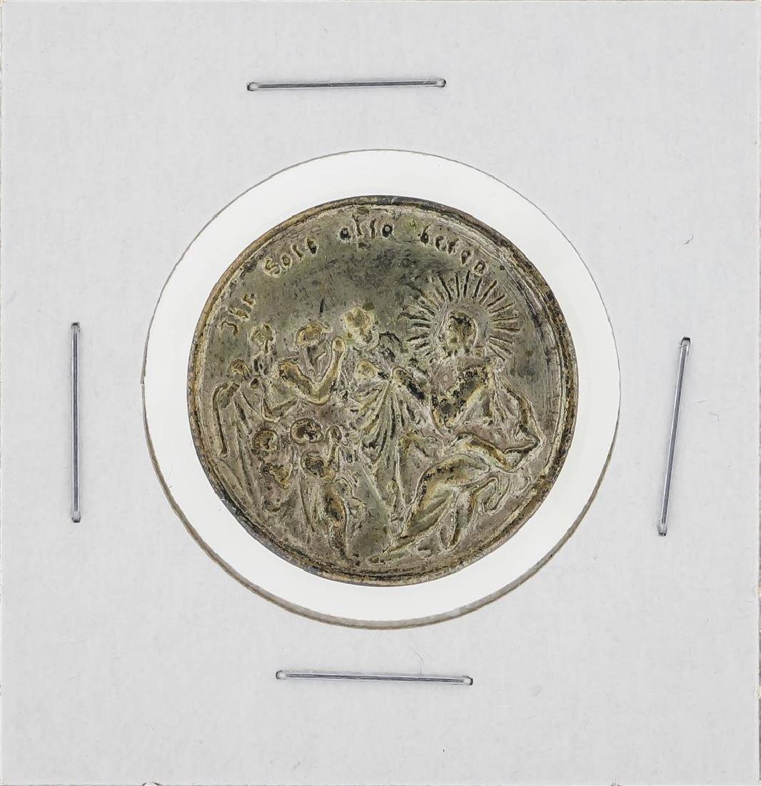 Circa 1720 Germany Silver Religious Medal