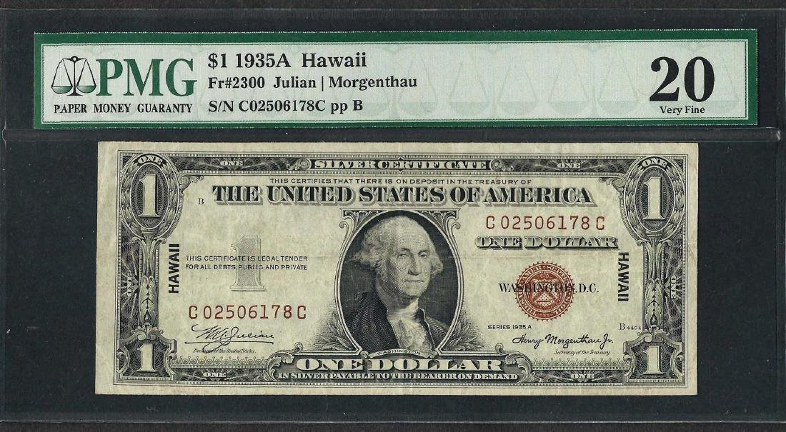 1935A $1 Hawaii Silver Certificate WWII Emergency Note