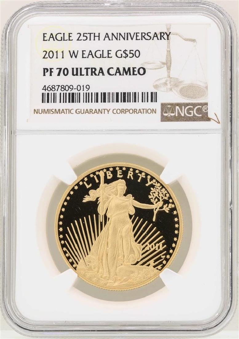 2011-W $50 American Gold Eagle Coin NGC PF70 Ultra
