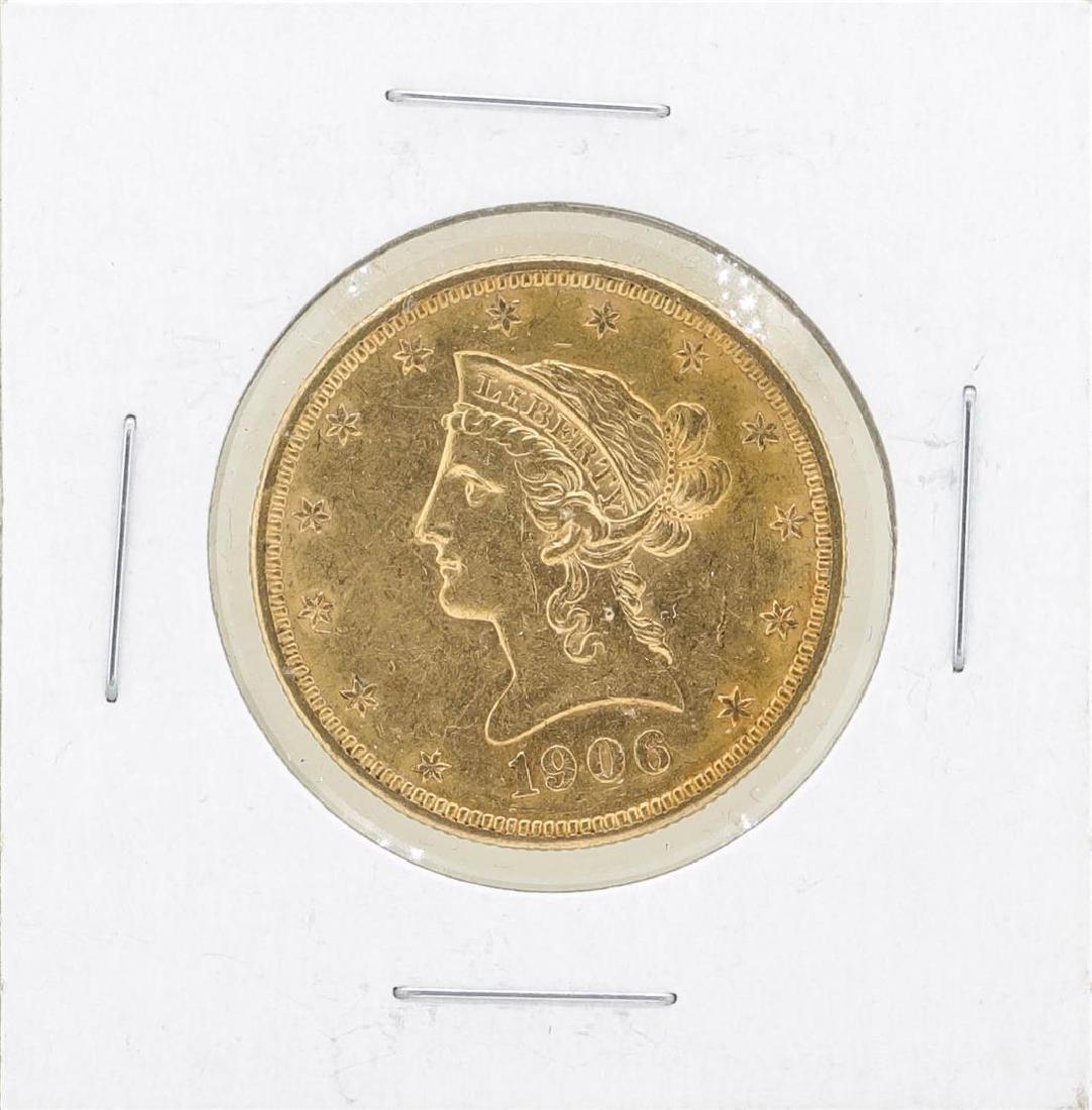 1906 $10 Liberty Head Eagle Gold Coin
