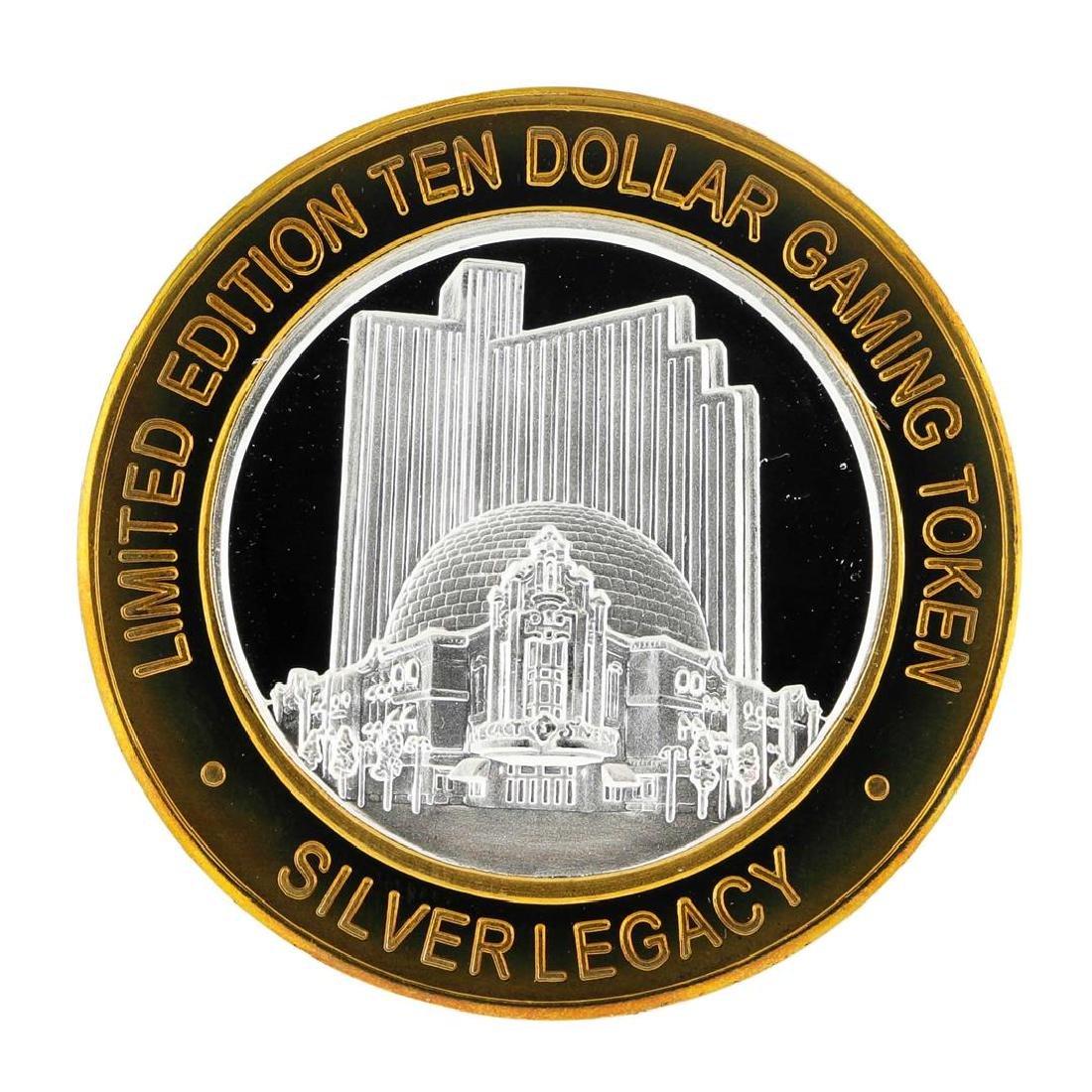 .999 Silver Silver Legacy Reno, Nevada $10 Casino - 2