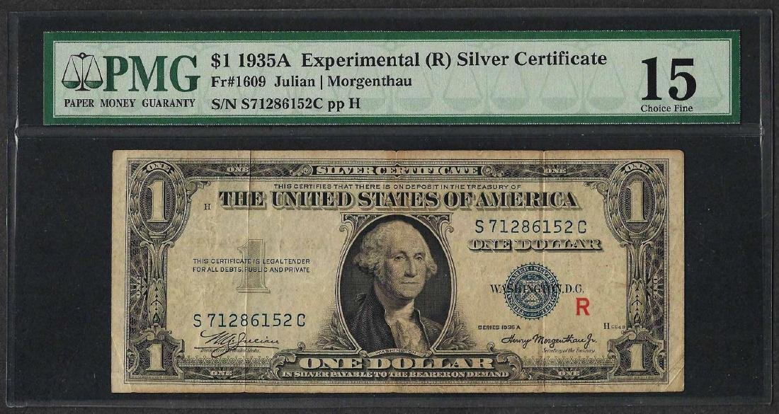 1935A $1 Experimental Silver Certificate Note Fr.1609
