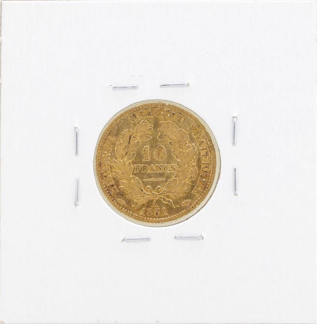 1857-A France 10 Francs Gold Coin - 2
