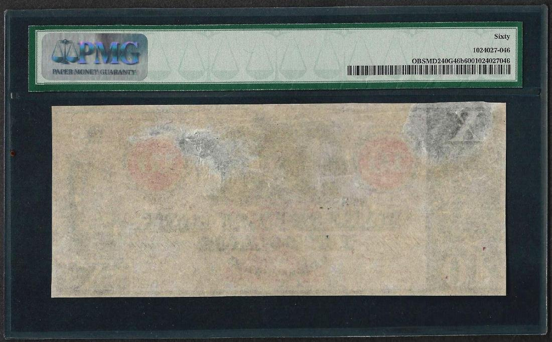 1850's-60's $10 The Hagerstown Bank Obsolete Note PMG - 2