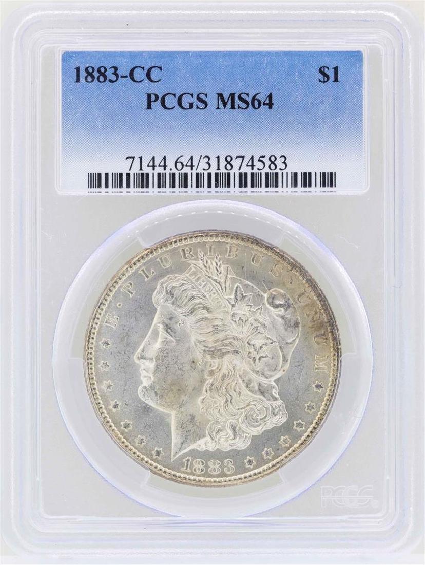 1883-CC $1 Morgan Silver Dollar Coin PCGS MS64