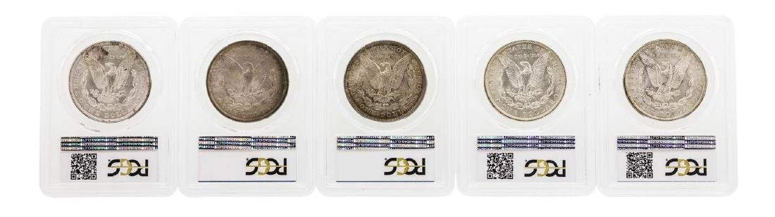 Lot of (5) Assorted Philadelphia Mint $1 Morgan Silver - 2