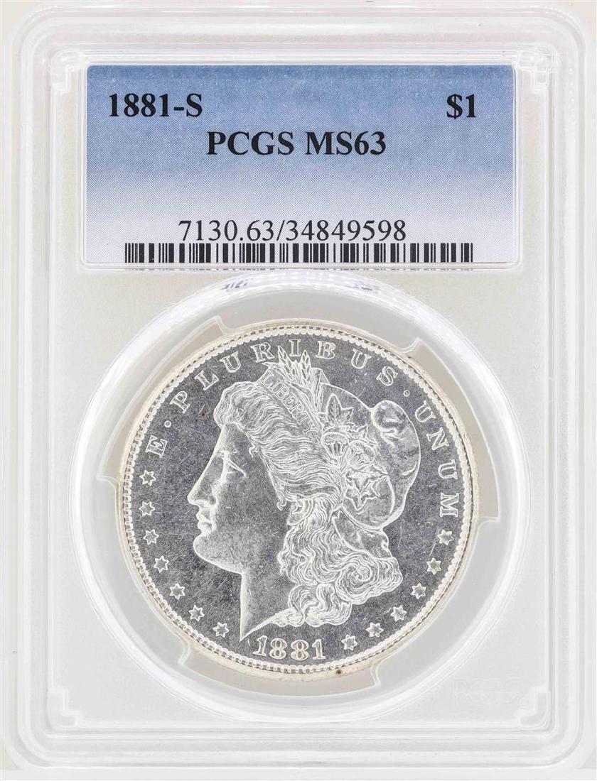 1881-S $1 Morgan Silver Dollar Coin PCGS MS63