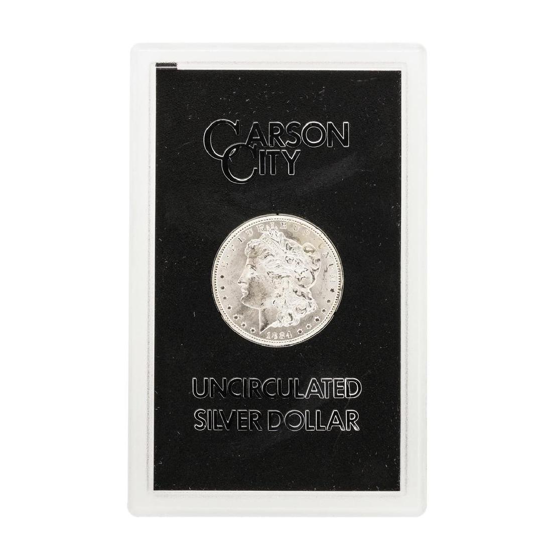 1884-CC $1 Morgan Silver Dollar Coin GSA - 2