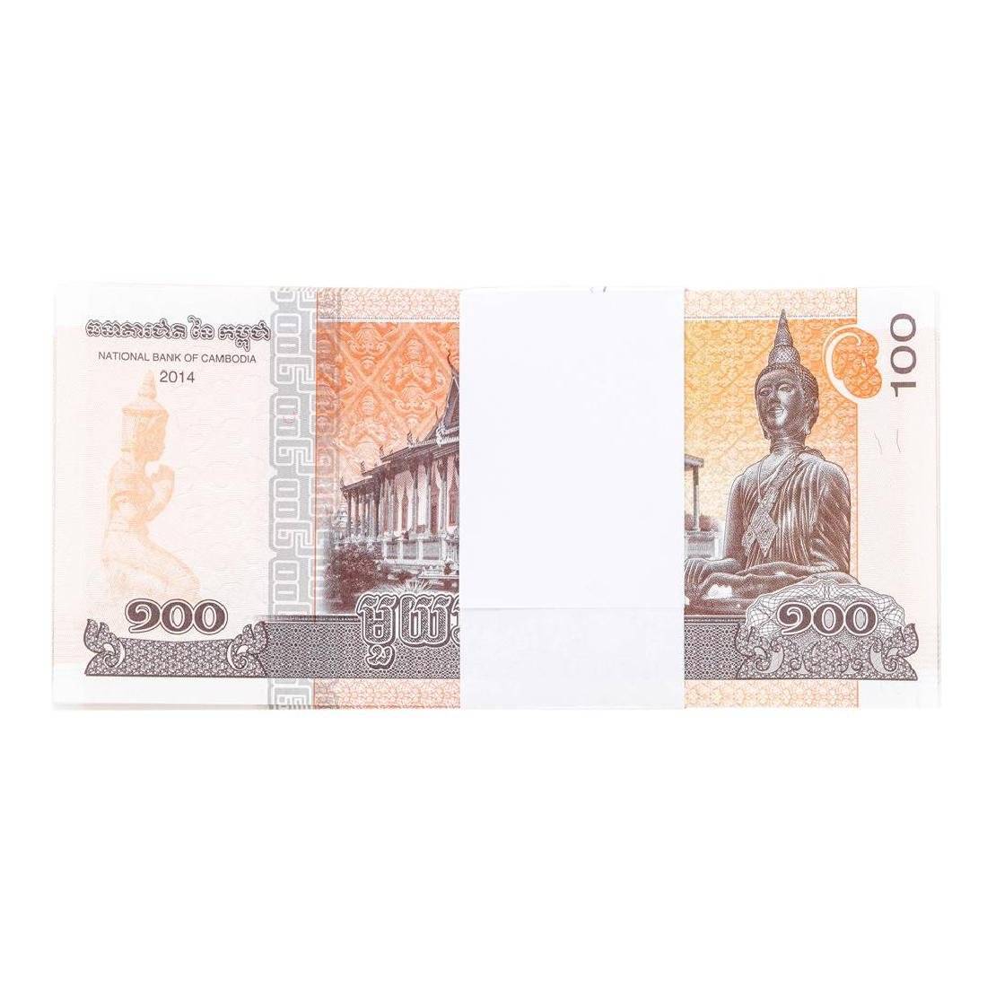 Pack of (100) Consecutive Cambodia 100 Riels - 2