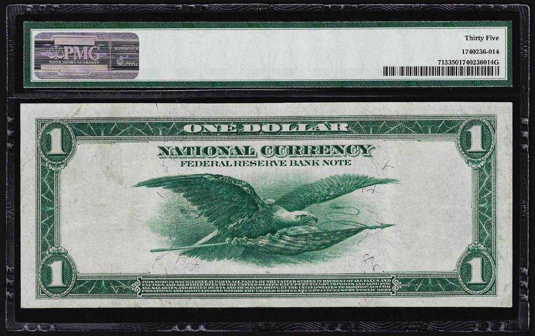 1918 $1 Federal Reserve Bank Note New York Fr.713 PMG - 2