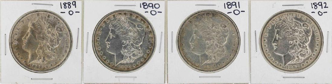 Lot of 1889-O to 1892-O $1 Morgan Silver Dollar Coins