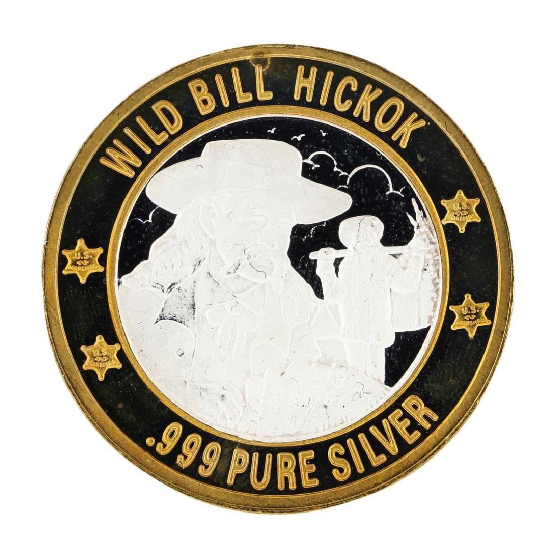 .999 Silver Lawmen Series Wild Bill Hickok $10 Limited - 2