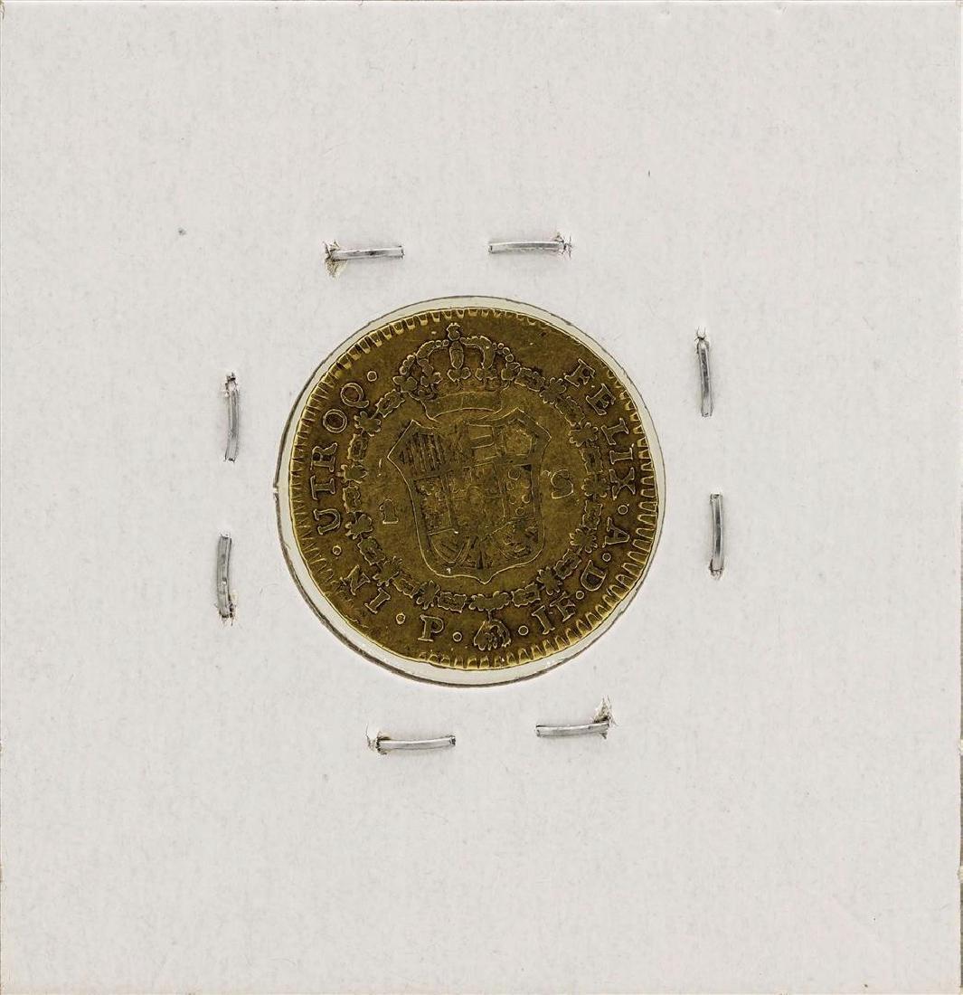 1809 Ferdinand VII Spanish Escudo Gold Coin - 2