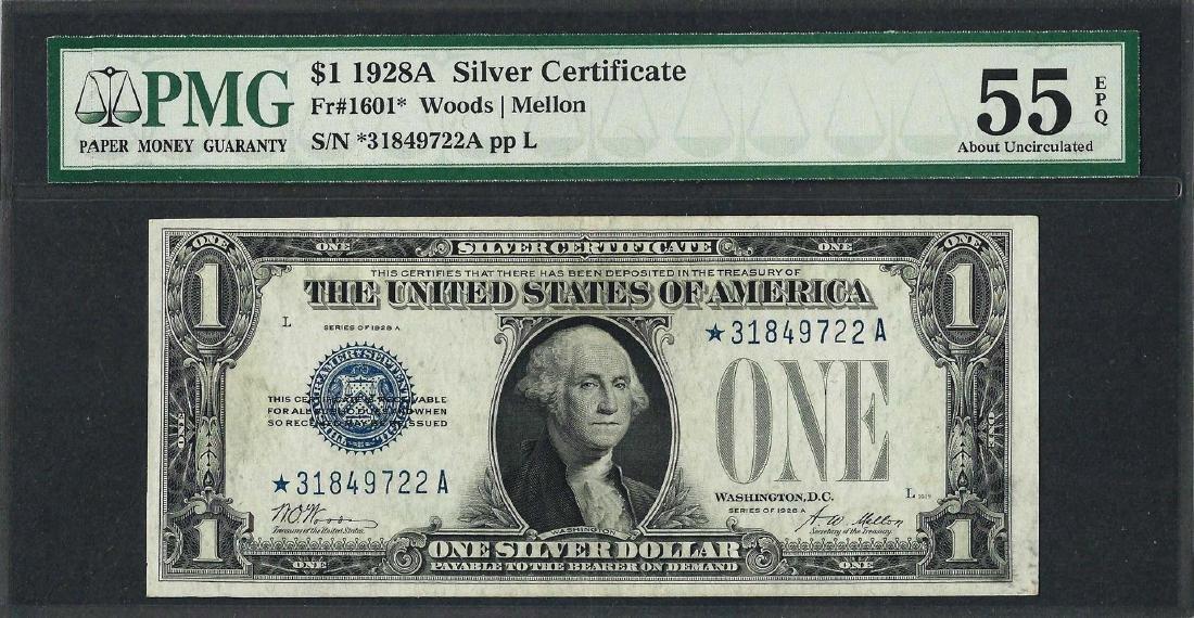 1928A $1 Funnyback Silver Certificate STAR Note