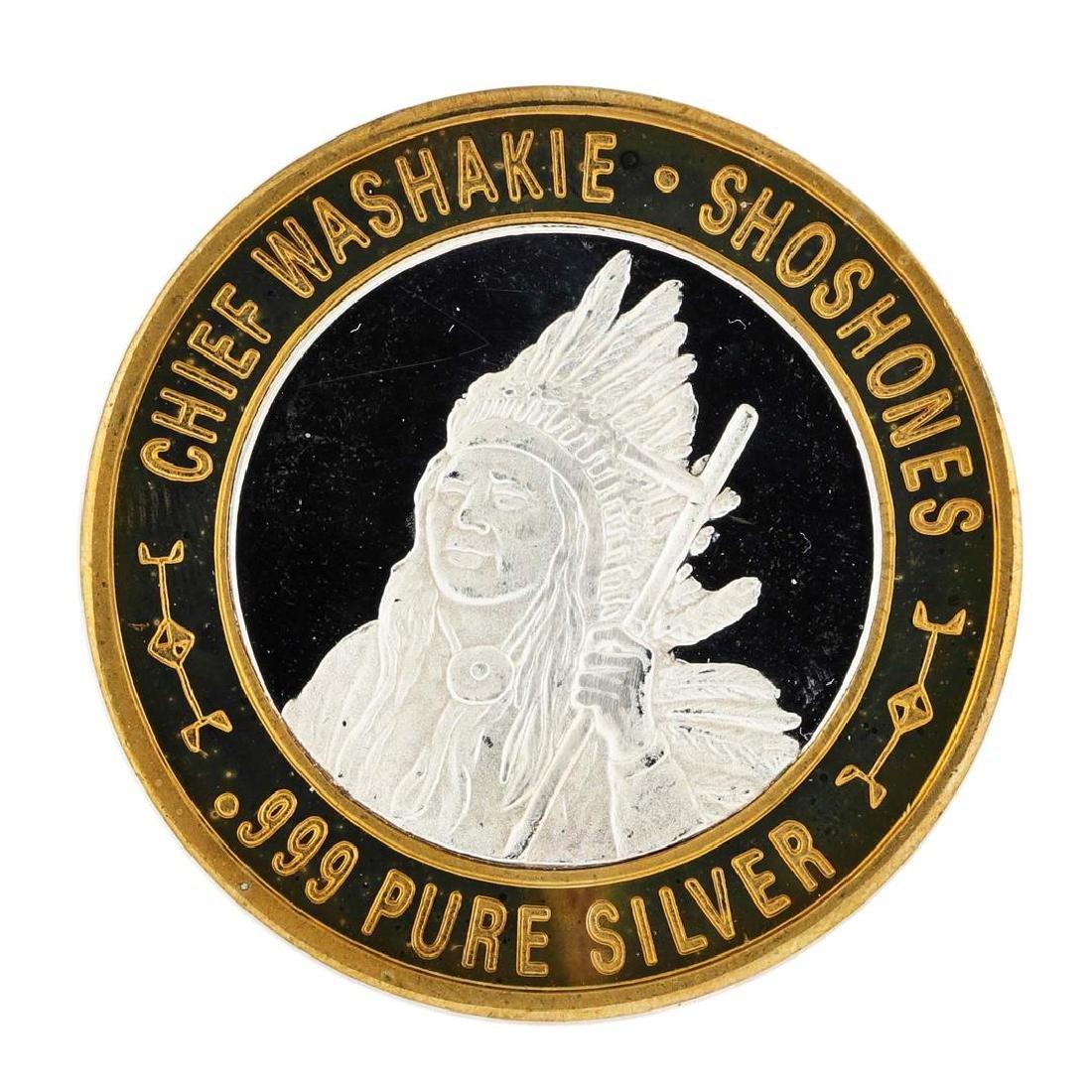.999 Silver Chief Washakie $10 Casino Limited Native