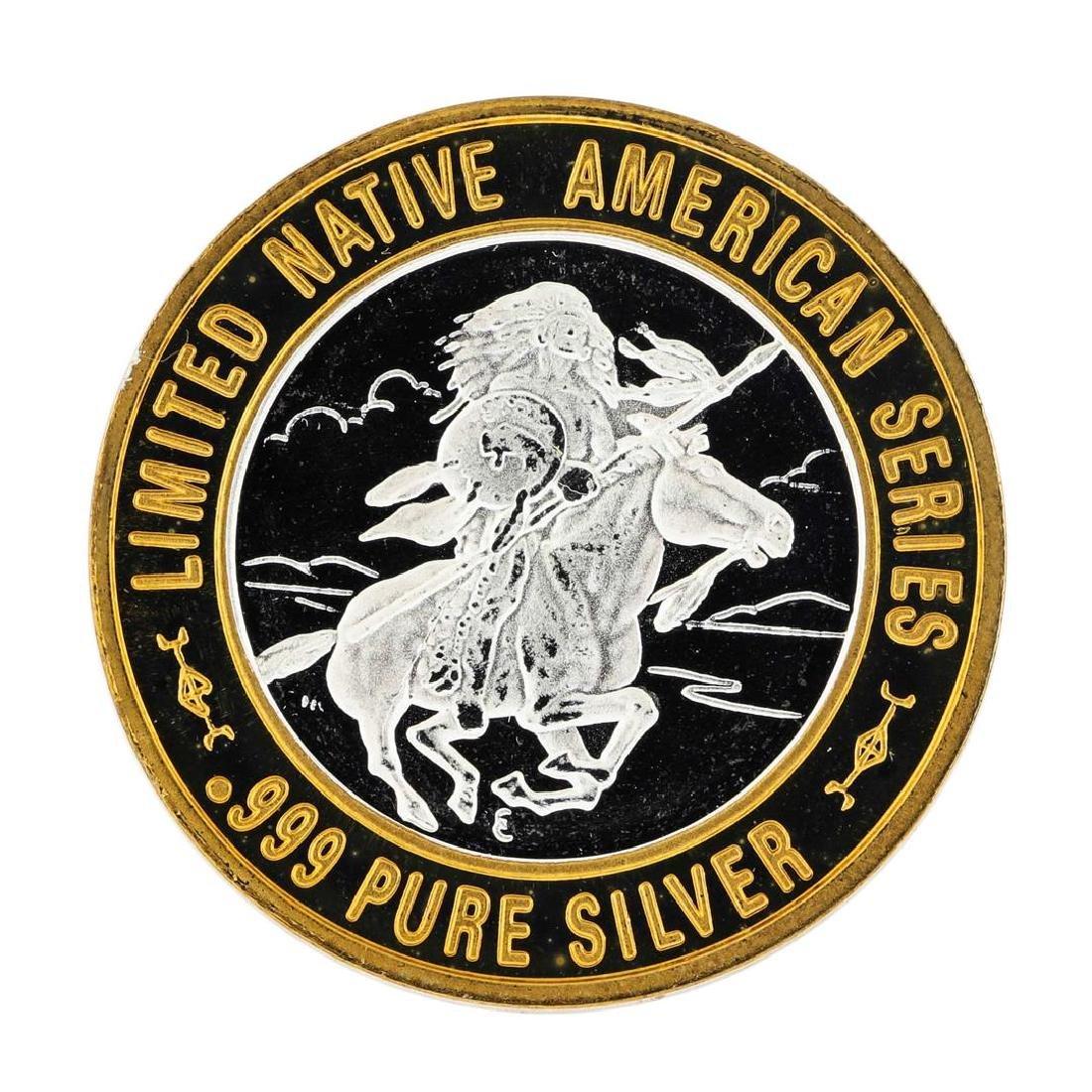 .999 Silver Chief Washakie $10 Casino Limited Native - 2