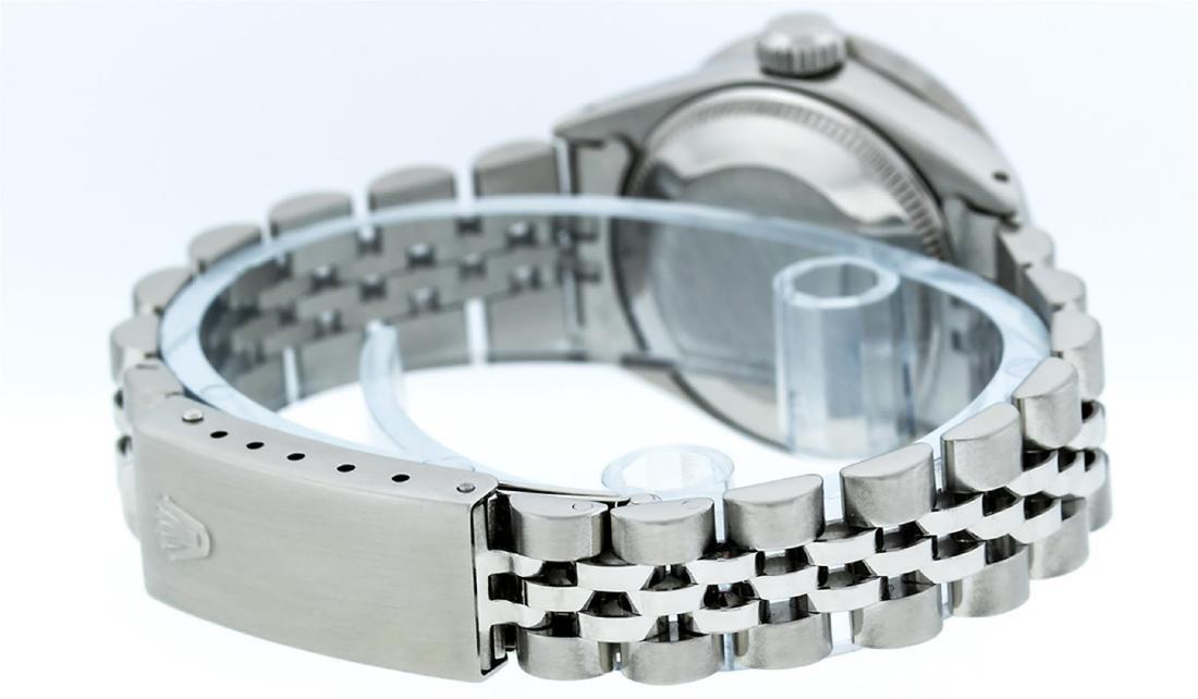Rolex Ladies Stainless Steel Pink MOP Baguette Diamond - 7