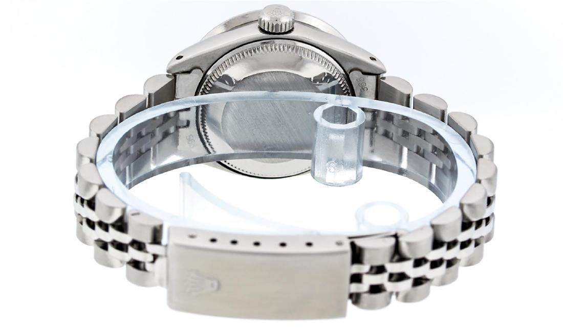 Rolex Ladies Stainless Steel Pink MOP Baguette Diamond - 8