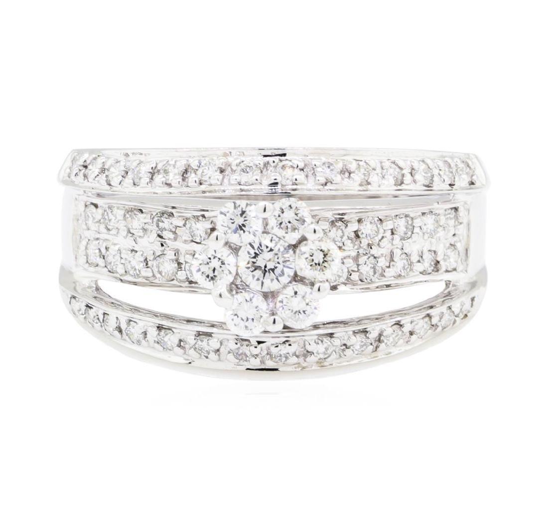 18KT White Gold 0.75 ctw Diamond Ring - 2
