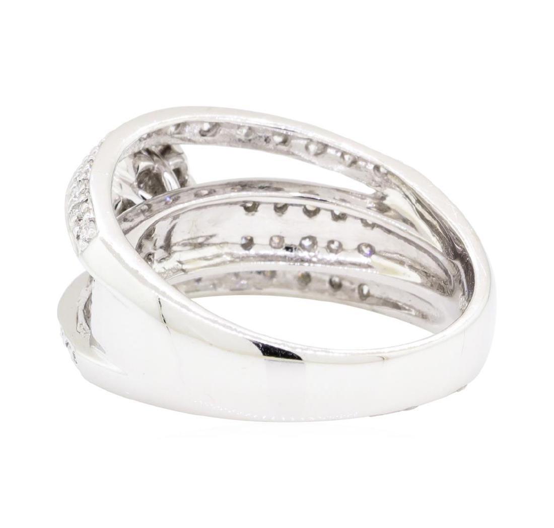 18KT White Gold 0.75 ctw Diamond Ring - 3