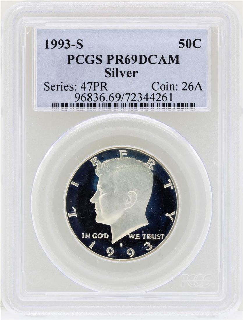 1993-S Kennedy Silver Half Dollar Coin PCGS PR69DCAM
