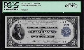 1918 $2 Battleship Federal Reserve Bank Note Fr.757