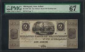 183739 2 Millers Bank of Washtenaw Obsolete Note PMG