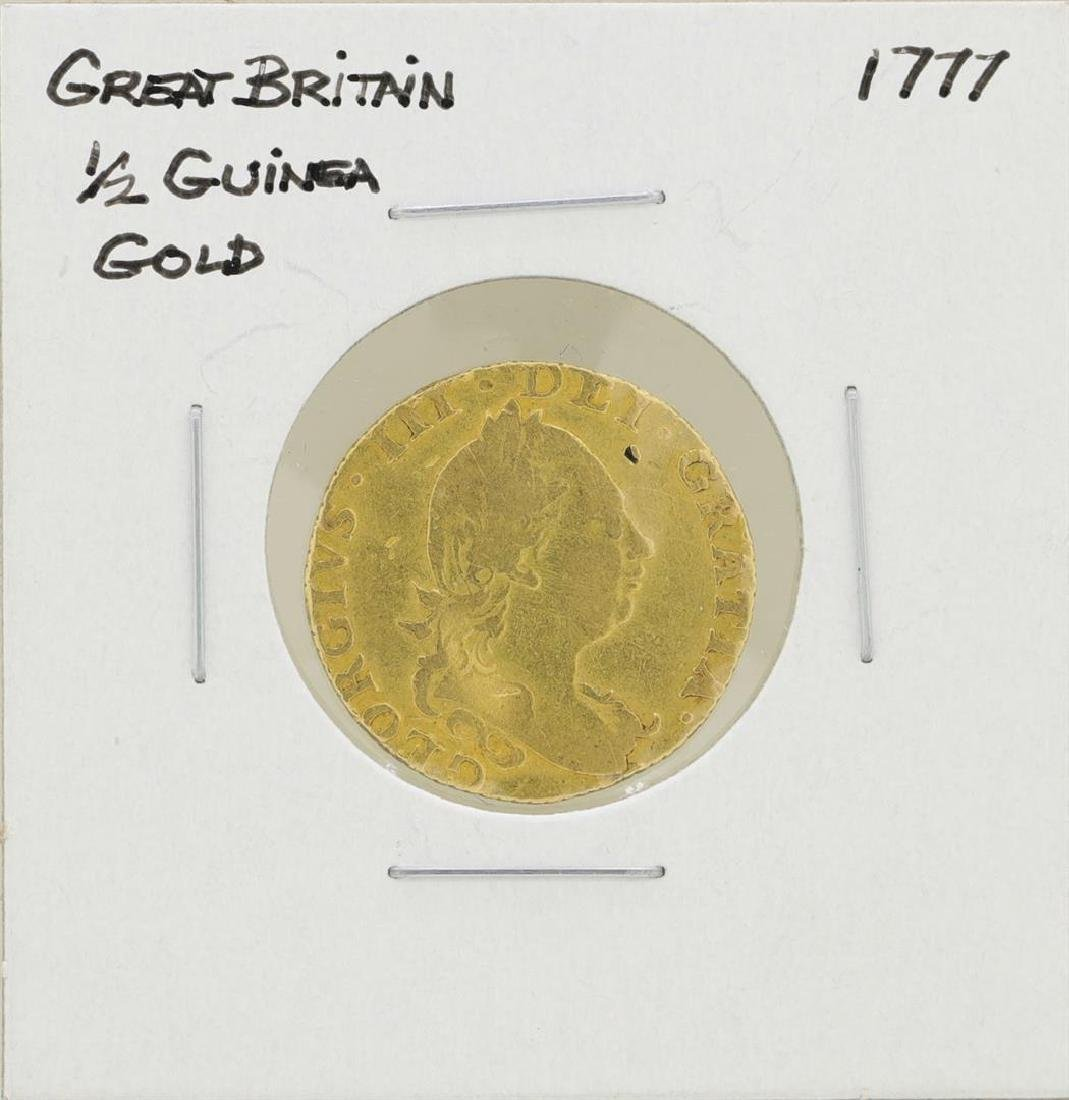 1777 Great Britain 1/2 Guinea Gold Coin