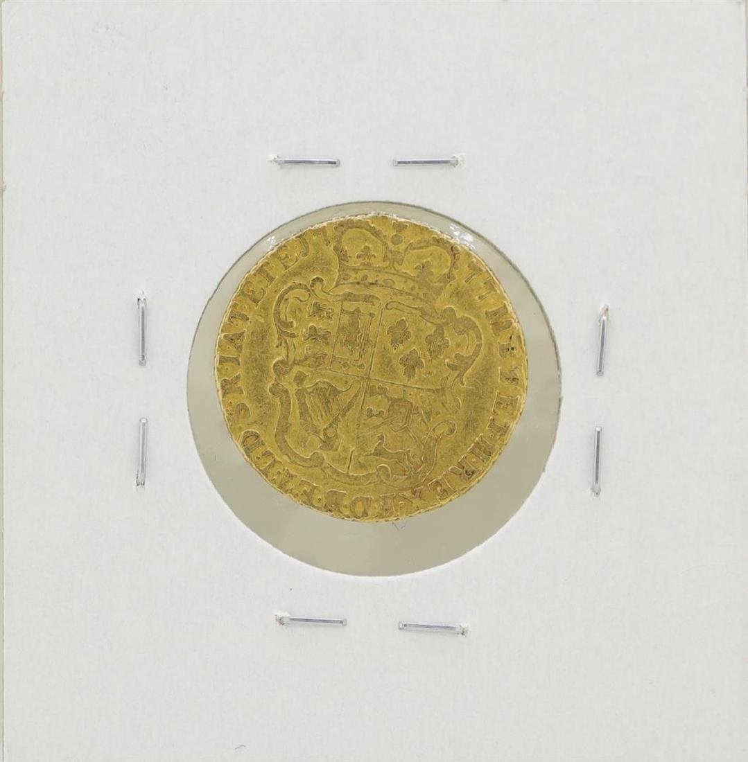 1777 Great Britain 1/2 Guinea Gold Coin - 2